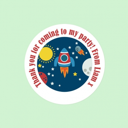 Rocket - Sweet Cone Stickers - Pack of 35