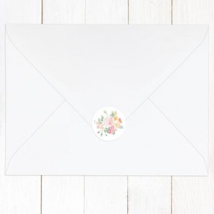 Romantic Floral - Wedding Envelope Seals