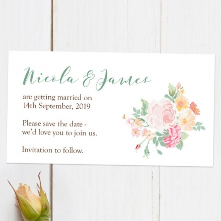 Romantic Floral - Save the Date Magnets