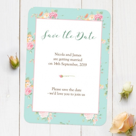 Romantic Floral - Save the Date Cards