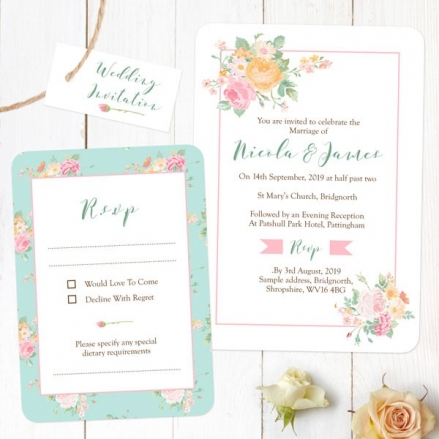 Romantic Floral - Boutique Wedding Invitation & RSVP