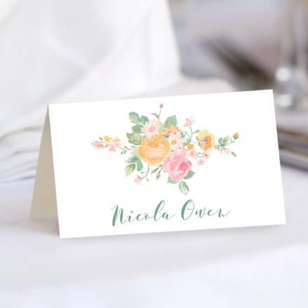 Romantic Floral - Wedding Place Cards