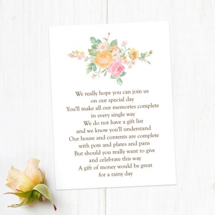 Romantic Floral - Gift Poem Cards