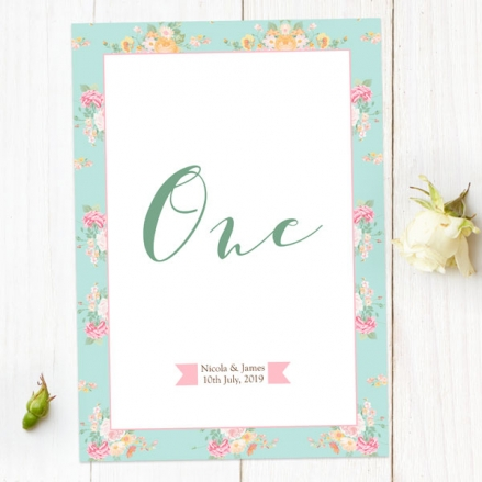 Romantic Floral - Table Name/Number