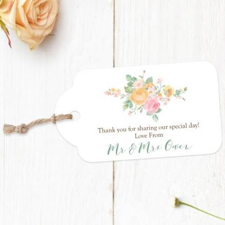 Romantic Floral - Favour Tags