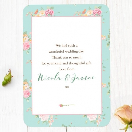 Romantic Floral - Wedding Thank You Cards