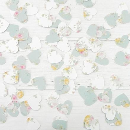 Romantic Floral - Heart Table Confetti