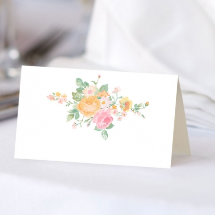 Romantic Floral - Ready to Write Wedding Place Cards