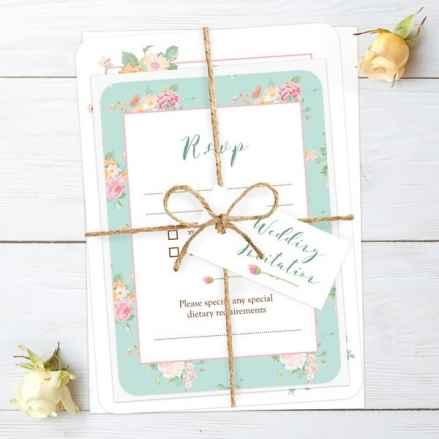 Romantic Floral - Ready to Write Wedding Invitations & RSVP