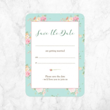 Romantic Floral - Ready to Write Save the Date Cards