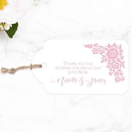 Romantic Flowers - Favour Tags