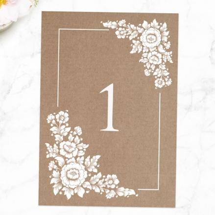 Romantic Flowers - Table Name/Number