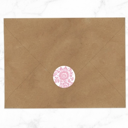 Romantic Flowers - Wedding Envelope Seals