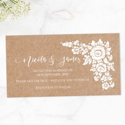 Romantic Flowers - Save the Date Magnets