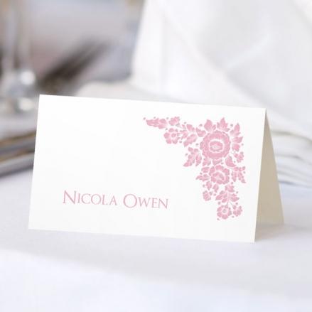 Romantic Flowers - Wedding Place Cards
