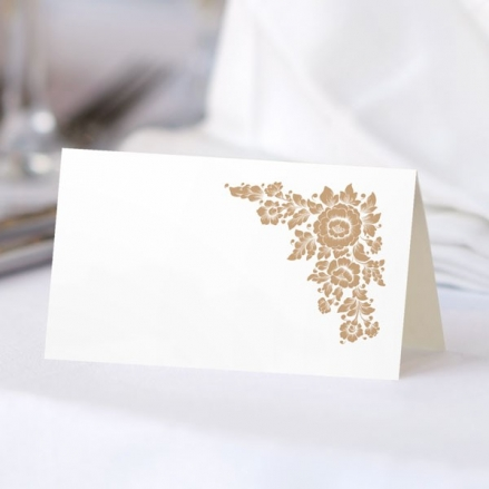 Romantic Flowers - Ready to Write Wedding Place Cards