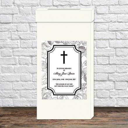 Funeral Post Box - Rose Border
