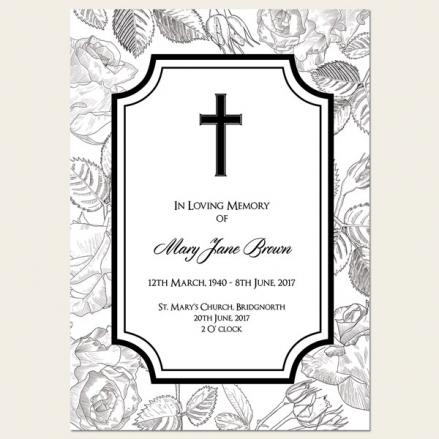 Funeral Order of Service - Rose Border