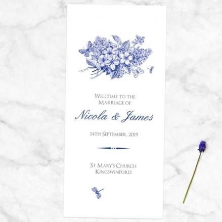 Royal Botanical - Order of Service Concertina