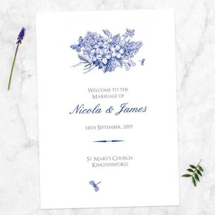 Royal Botanical - Wedding Order of Service