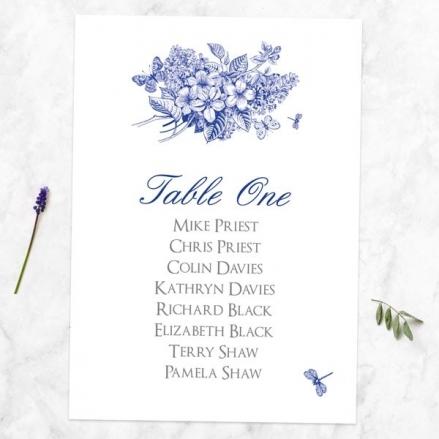 Royal Botanical - Table Plan Cards