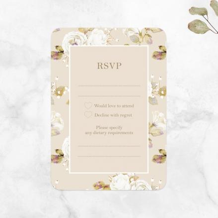Vintage-Cream-Roses-Wedding-RSVP-Cards