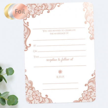 Vintage-Wedding-Car-Foil-Ready-to-Write-Wedding-Invitations