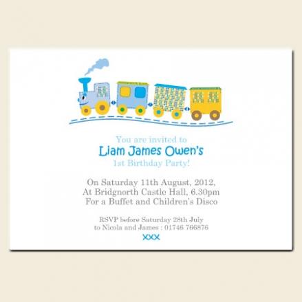 1st Birthday Invitations - Runaway Train