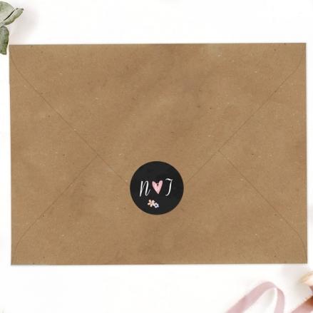 Rustic Chalkboard Flowers - Wedding Envelope Seals