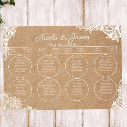 Rustic Lace Pattern - Table Plan