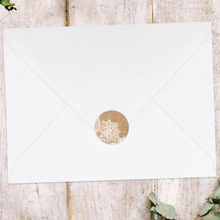 Rustic Lace Pattern - Wedding Envelope Seals