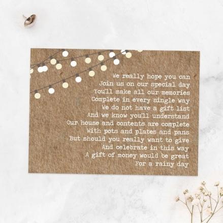 Rustic Mason Jar Flowers - Gift Poem Cards