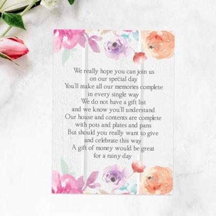 Rustic Pastel Flowers - Gift Poem Cards