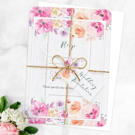 Rustic Pastel Flowers Ready to Write Sample