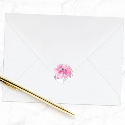 Rustic Pastel Flowers - Wedding Envelope Seals