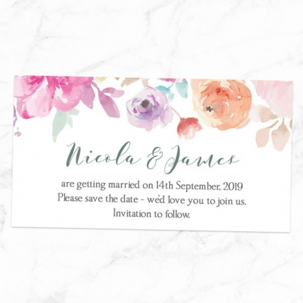 Rustic Pastel Flowers - Save the Date Magnets