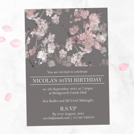 30th Birthday Invitations - Sakura Blossom