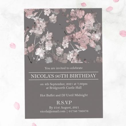 90th Birthday Invitations - Sakura Blossom
