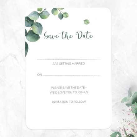 Eucalyptus - Ready to Write Save the Date Cards