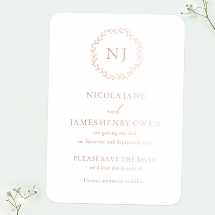 Monogram-Leaves-Foil-Save-the-Date-Cards