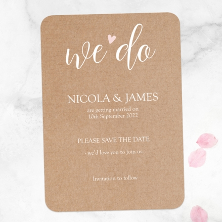 We Do - Save the Date Cards