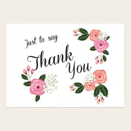Thank You Cards - Country Peony