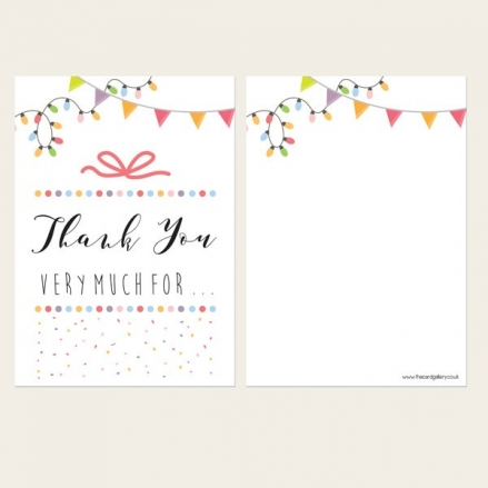 Ready to Write Thank You Cards - Pastel Typography