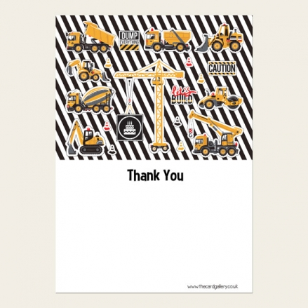 Ready to Write Childrens Thank You Cards - Cool Construction