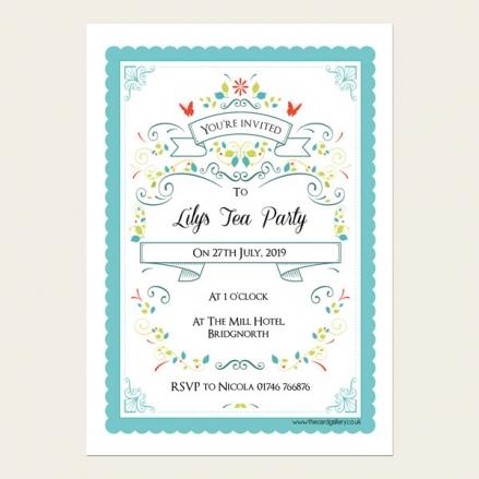Party Invitations - Vintage Tea Party