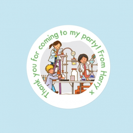 Science Party - Sweet Cone Stickers - Pack of 35