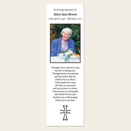 Funeral Bookmark - Scroll Border