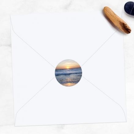 Sea Sunset - Wedding Envelope Seals
