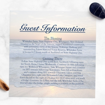 Sea Sunset - Guest Information