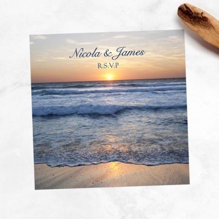 Sea Sunset - Wedding RSVP Cards